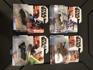 Hot Wheels Star Wars Action Feature Character Cars for Sale in Pasadena, CA