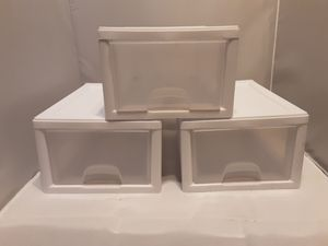 Three Plastic Organizer Storage Drawer Boxes for Sale in Glendale, CA