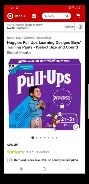 Huggies Pull Ups Learning Designs Boys' Training Pants for Sale in Olmsted Falls, OH