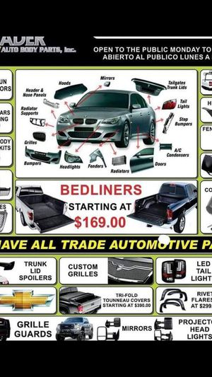 We offer body parts for all makes and models for Sale in Bakersfield, CA
