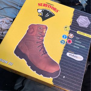 Steel Toe Work Boots Size 11 With Gloves for Sale in Miami Springs, FL