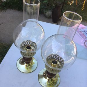 Antique brass candle holder lamps for Sale in Denver, CO