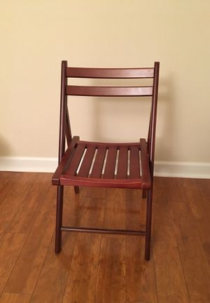 Folding wooden chair for Sale in Ashburn, VA