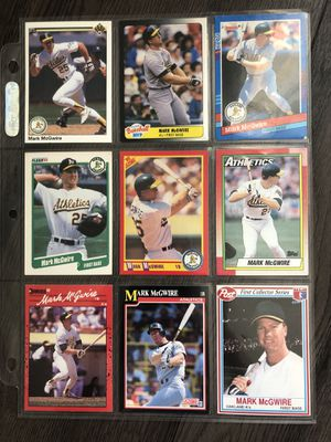 Mark Mcgwire vintage collectible cards for Sale in Culver City, CA