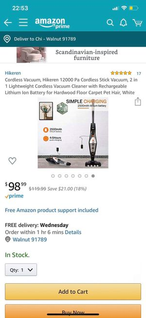 Vacuum for Sale in Walnut, CA
