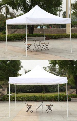 Brand New $100 Heavty-Duty 10x10 FT Outdoor Ez Pop Up Canopy Party Tent Instant Shades w/ Carry Bag (White) for Sale in Downey, CA