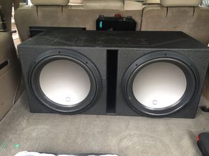 Audio pipe 15 inch and amp 3000watts for Sale in Atlanta, GA