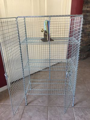 Storage shelves with doors / cabinet / open metal shelf unit / bookcase/ book shelf for Sale in Glendale, AZ