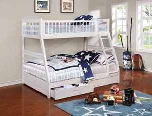 Twin/ Full Wood Bunkbed with mattress New in Box Litera de madera con sus colchones Twin y Full Nueva en su caja for Sale in Miami, FL