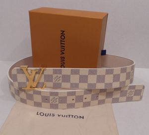 Louis Vuitton White Belt New Mens Womens LV Gucci Ferragamo Versace Fendi Burberry Wallet for Sale in New York, NY