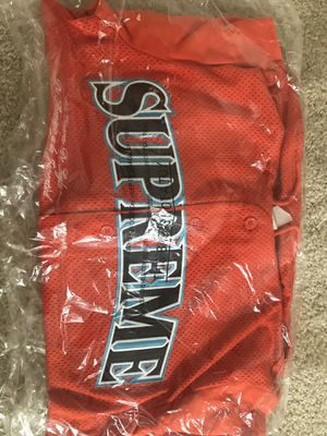 Supreme Mesh Hooded L/S Baseball Jersey for Sale in New Castle, DE