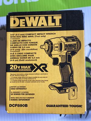 20-Volt MAX Lithium-Ion 3/8 in. Compact Impact Wrench (Tool-Only) for Sale in NEW CARROLLTN, MD