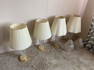 Glass lamps, 4 large, 2 small for Sale in Fresno, CA