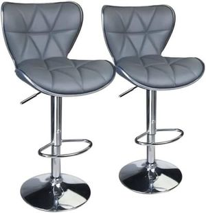 Set of 2 PU Leather Padded Adjustable Swivel Bar Stools for Sale in Los Angeles, CA