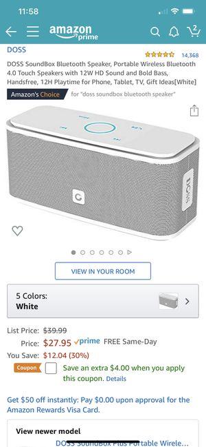 DOSS SoundBox Bluetooth Speaker for Sale in Bellevue, WA