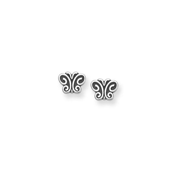 James avery butterfly earings