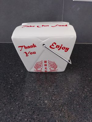 Chinese takeout coin bank for Sale in Puyallup, WA