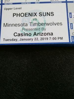 Upper level corner $10 ea. Groups welcome. Suns vs Timberwolves for Sale in Laveen Village, AZ
