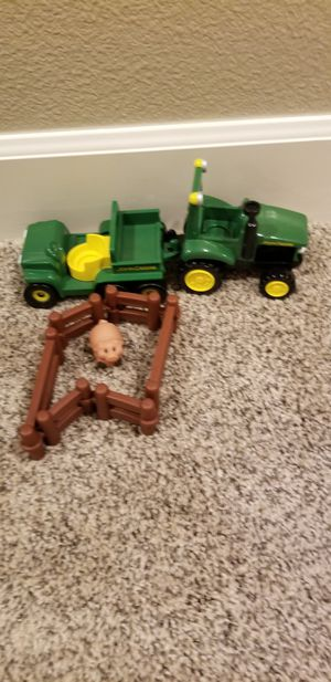 John deere tractor, fence and pig for Sale in Beaverton, OR