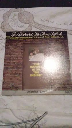 "Vinyl Rev. Richard ""Mr Clean"" White for Sale in Camden,  AL"