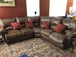 Leather sectional couch for Sale in Lake Elsinore, CA