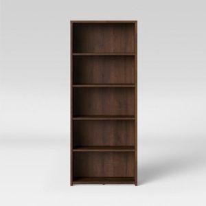 NEW Espresso 5 Shelf Bookcase for Sale in Brookston, IN