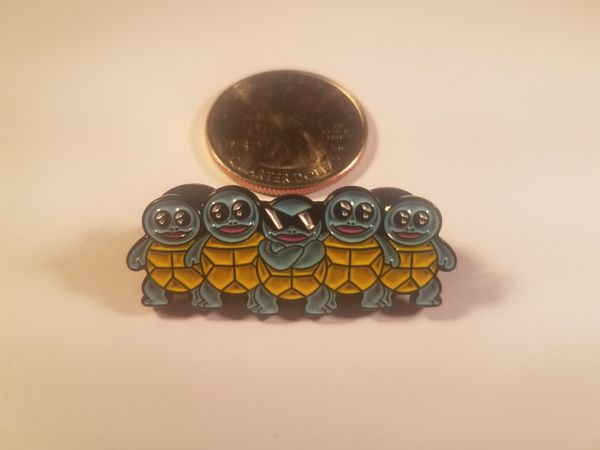 *SHIP ONLY* Suirtle Squad Hard Enamel Collectible Pokemon Pin Badge