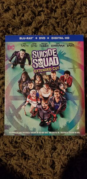 Suicide Squad(Extended Cut) Blu-ray/DVD for Sale in Hilliard, OH