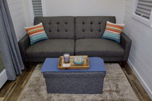 Couch, Pillows, Rug, TV, Mirror, TV Stand, Decorations for Sale in Mountlake Terrace, WA