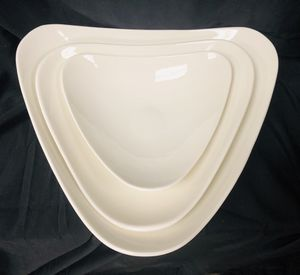 "Dowan Triangular Porcelain Serving Plates/Bowls - Fine Porcelain - Set of 3 - 8"", 10"" & 12"" - Brand New in Box for Sale in Temple City, CA"