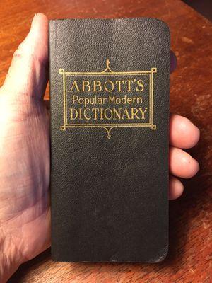 1963 Abbott's Vest Pocket Dictionary for Sale in Tulsa, OK