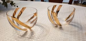 Glass and gold candle holder bowls for Sale in Los Angeles, CA