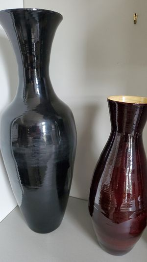4 bamboo hand made vases for decorative plants - NEW for Sale in Avon, OH
