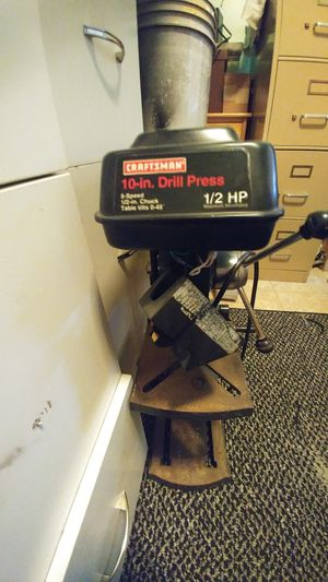 Craftsman 10-inch table top drill press, works great needs on and off switch attached back to body.$60. firm for Sale in Lake Worth, FL