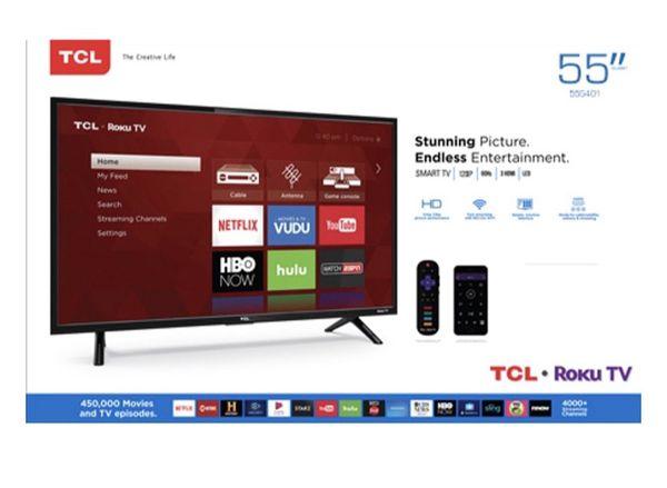 TCL 55 inch roku tv