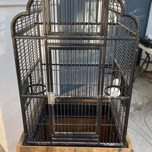 Large Birdcage On Wheels With Custom Storage Cabinet for Sale in Los Angeles, CA