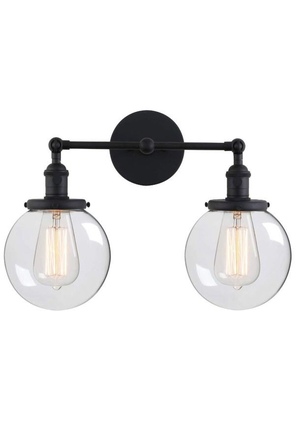 Phansthy 3.1 out of 5 stars 7 Reviews Phansthy Glass Wall Sconce 2 Light Industrial Wall Sconce 5.9 Edison globe Wall Light Shade