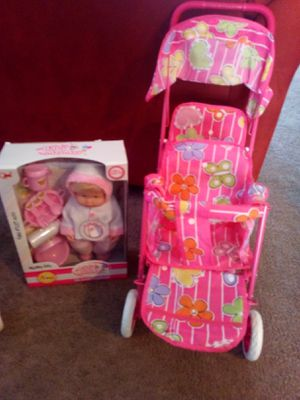 Select one doll with a double doll stroller 35 for Sale in Palmdale, CA