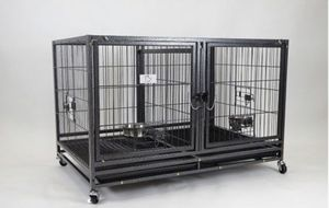 Dog Cage Kennel Crate Puppy Pen Bed House stackable with removable divider and casters brand new in original factory sealed box👍🏻 please see dimensio for Sale in Las Vegas, NV