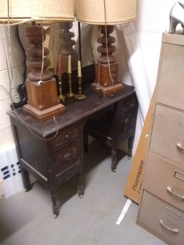 Antique furniture300.00 both pieces. Motor cycle parts both pieces.100.00 dollars .moor cycle parts
