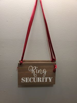 Ring security signs wedding for Sale in Chicago, IL