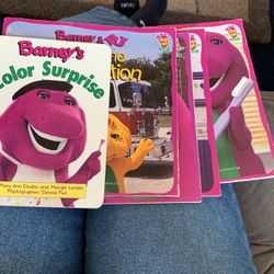 Barney-5 Books-Gre Adventure+Go to the Doctor+ to the Dentist+to the School+ To The Firestation for Sale in Bel Air,  MD