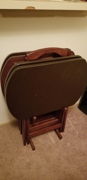 TV Trays w/stand for Sale in Galloway, OH