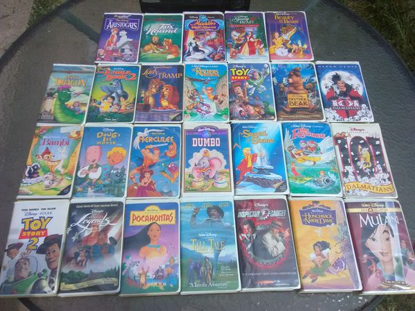 26 Classic Disney VHS tapes
