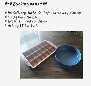 (NEW) Baking pans $5 for both for Sale in Dinuba, CA