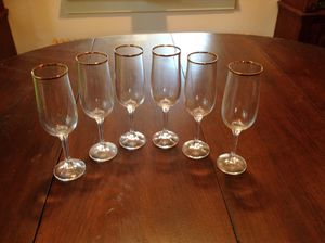 Vintage Bohemian Crystal Champagne Flutes for Sale in Lorton, VA