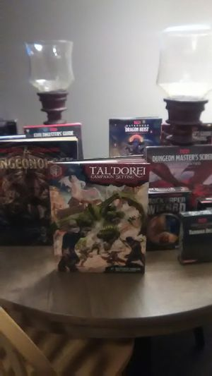Brand new Dungeons and dragons books, spellbound cards, tarokka deck,rock paper wizard, 🐉 tiles, reincarnated and more for Sale in Salem, OR