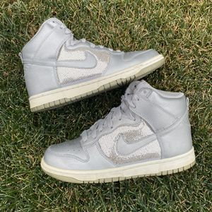 Nike Dunk High Metallic Silver for Sale in Normal, IL