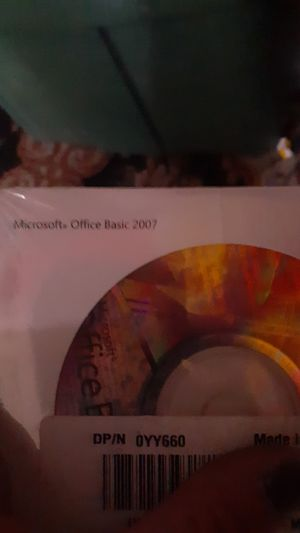 Microsoft Office basic 2007 software with product key for Sale in Portland, OR
