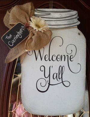 Mason Jar Door Hanger for Sale in Martinsburg, WV